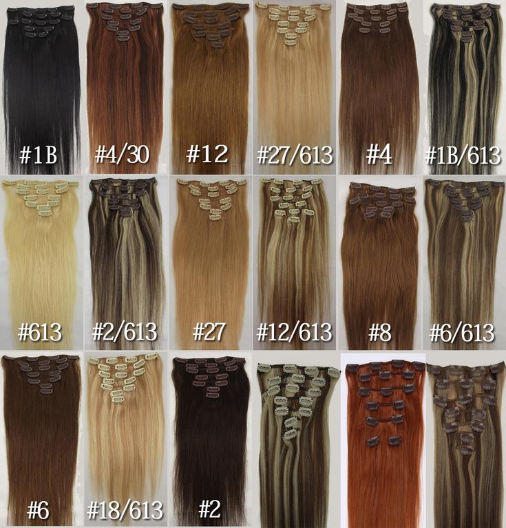 какие волосы на заколках лучше соответствует цветовой политре волос